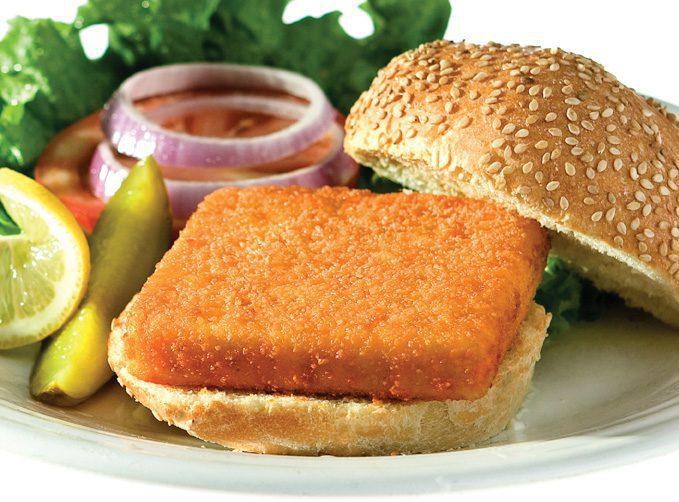 fish sandwich school lunch style