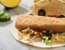 Fish Taco on Soft Taco